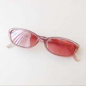 90's Pink Narrow Sunglasses